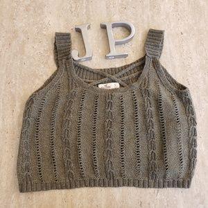 Hollister knitted crop top